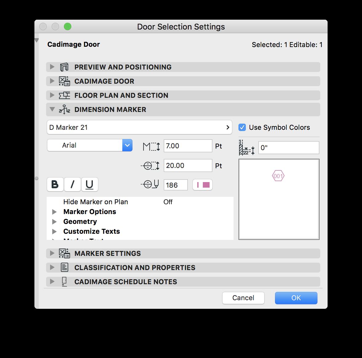 02 - Default Marker Settings